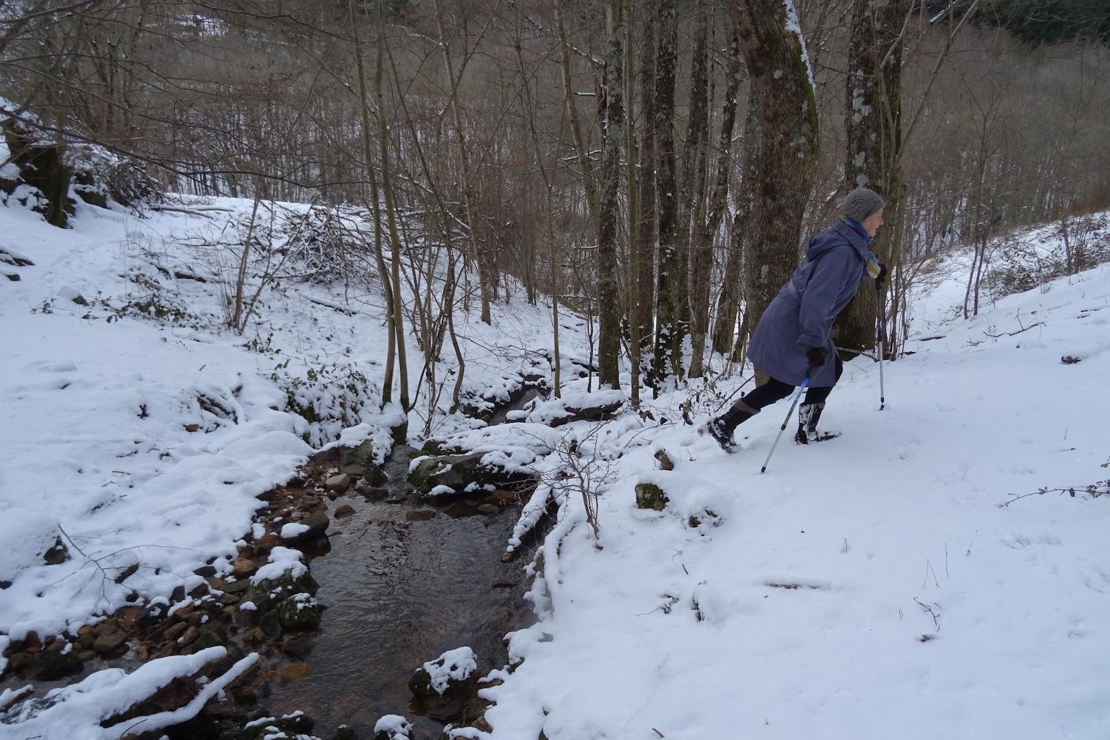 Traversée du ruisseau de Tracol